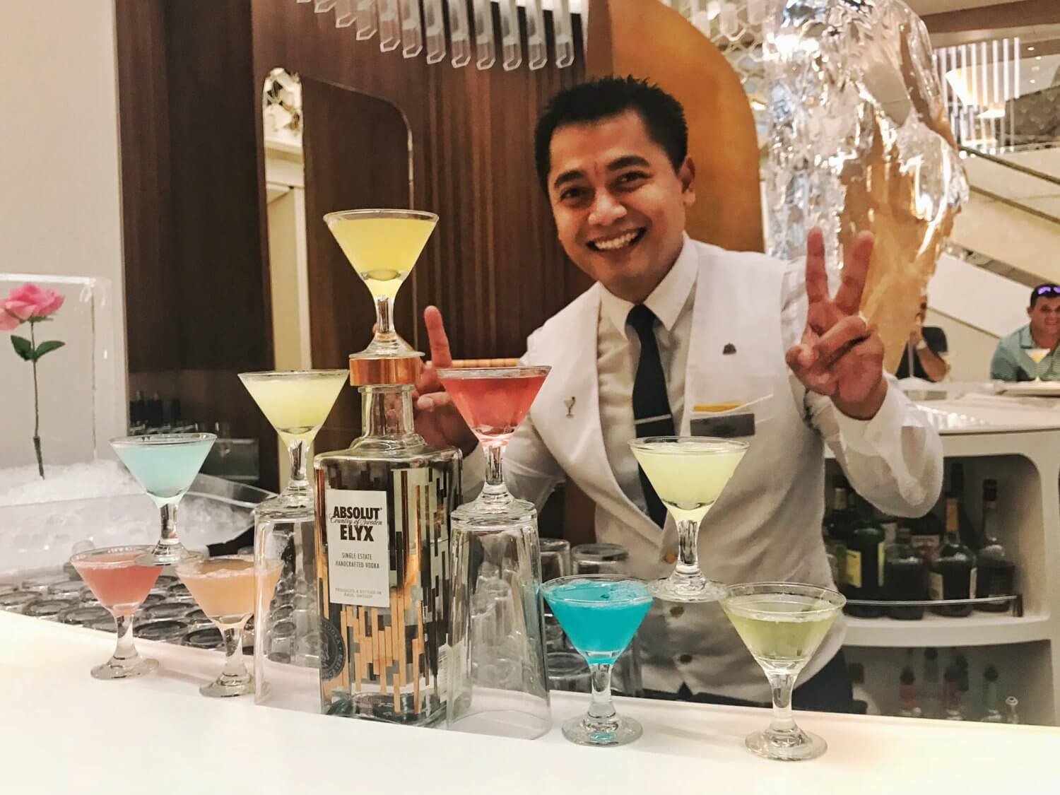 Martinis on board the Celebrity Edge