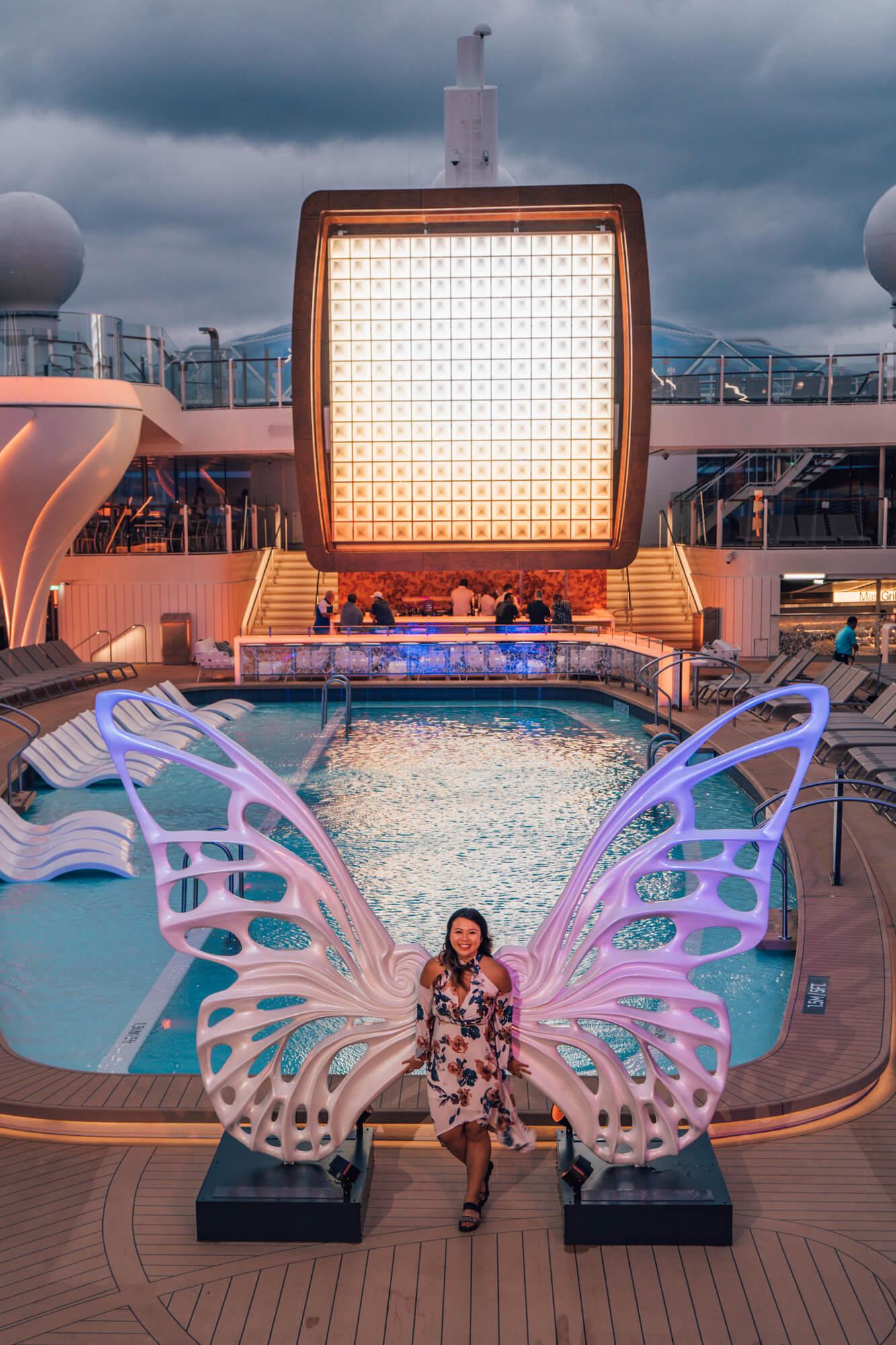 Pool area on board the Celebrity Edge