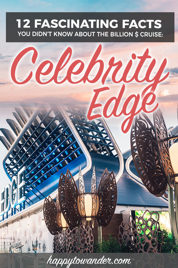 12 cool facts about the Celebrity Edge cruise ship, including amazing Celebrity Edge photos taken around the ship, the Celebrity Edge Eden area, and plenty more interesting facts about this billion dollar cruise ship, said to be revolutionizing cruising and cruise travel. #celebrity #cruisetravel #cruising