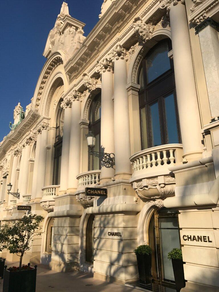 Chanel shop in an elegant building