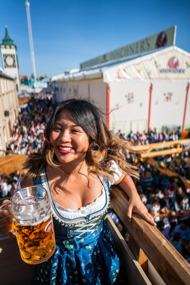 Christina Guan in dirndl at Oktoberfest