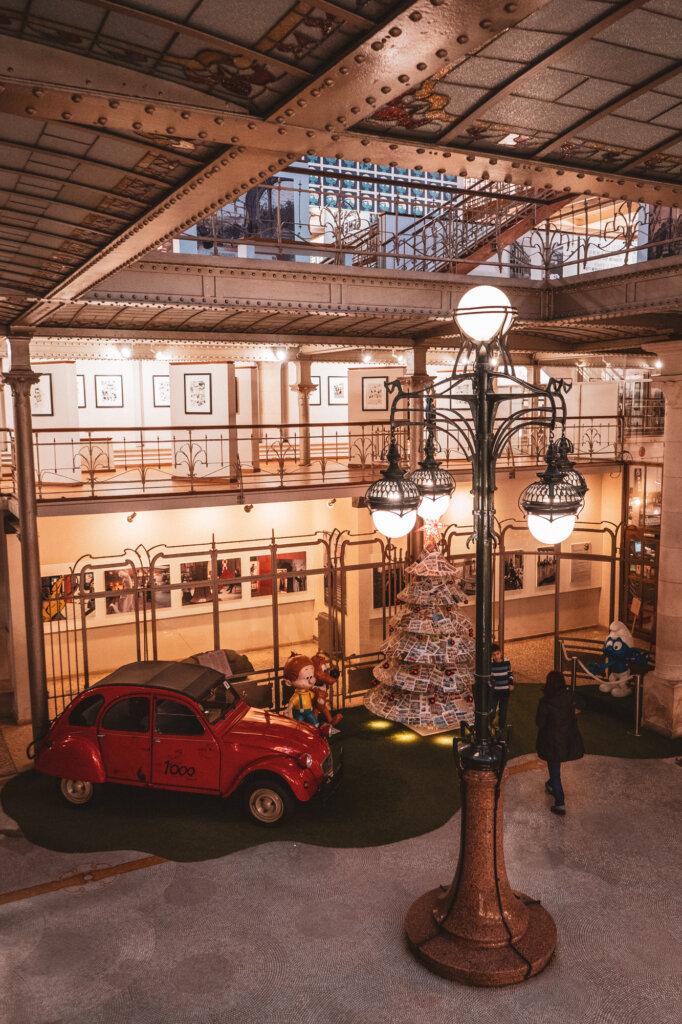 Interior of the Comic Book Museum in Brussels, Belgium