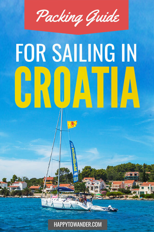 How to pack for a sailing trip to Croatia! This ultimate packing list for a Croatia sail trip will have you set this summer. #croatia #sailing