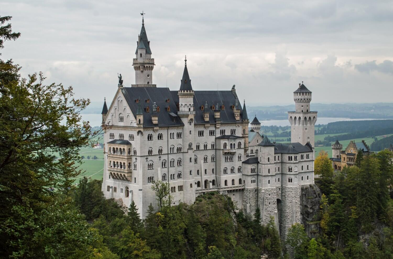A view of Neuschwanstein Castle, Germany