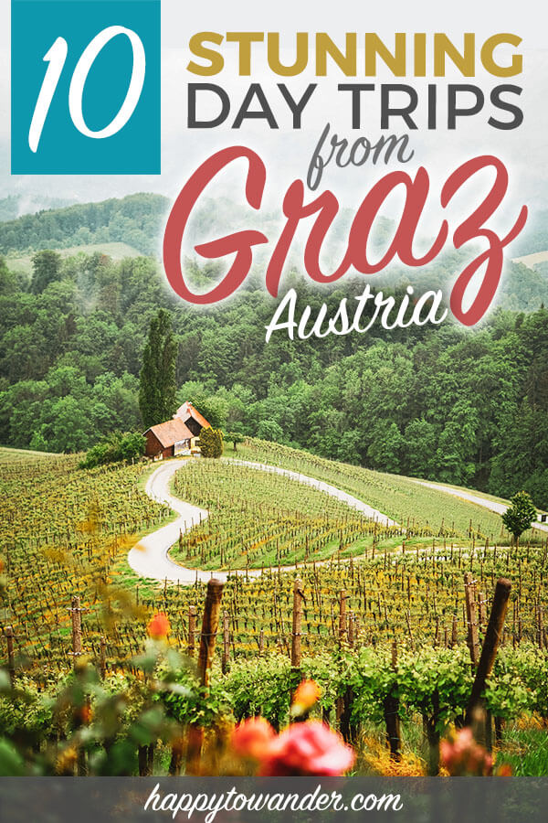 This Austria travel guide includes amazing hidden gems near Graz! One of the best things to do in Graz is take day trips out to the areas nearby. Includes great Austria destinations for winter, summer, wine, food and more. These Austria travel destinations are a must-add to your Austria travel itinerary! #austria #travel