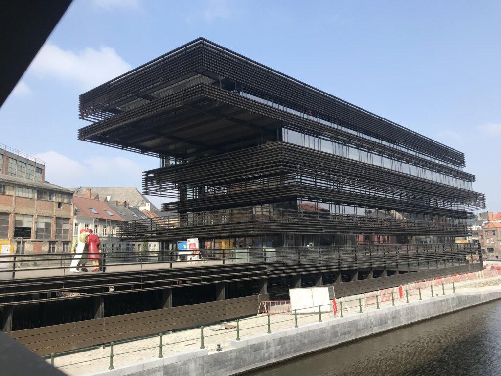 Modern De Krook Library in Ghent, Belgium
