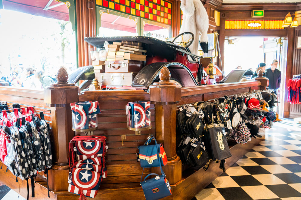 Marvel themed merchandise at Disneyland Paris