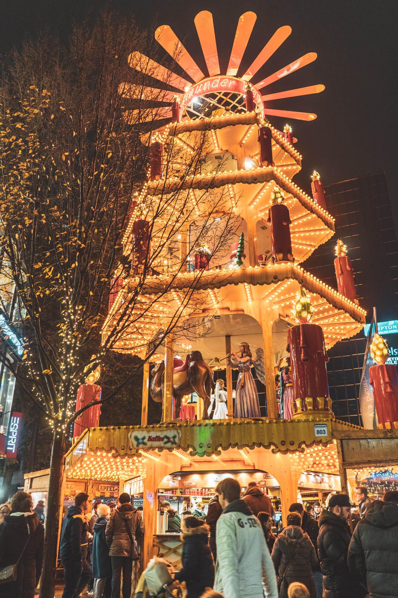 Dortmund Christmas Market Pyramid