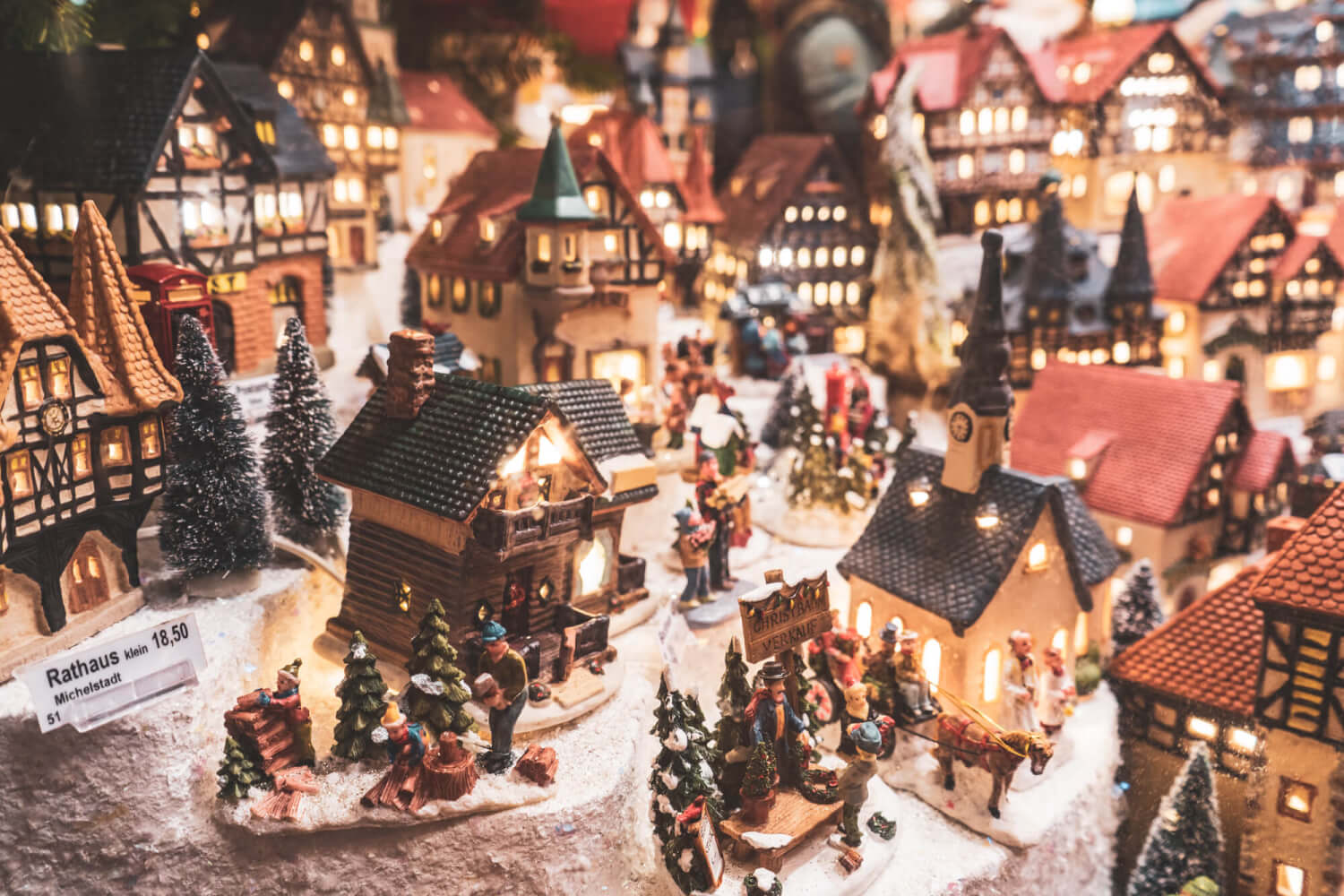 Christmas village at German Christmas market