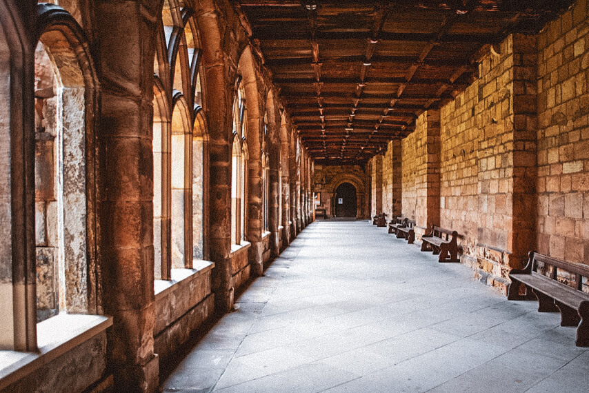 Durham Cathedral cloisters, used in the Harry Potter movies