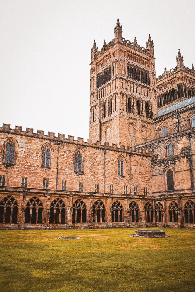 Durham Cathedral, used to film Hogwarts' Quad in the first two Harry Potter films