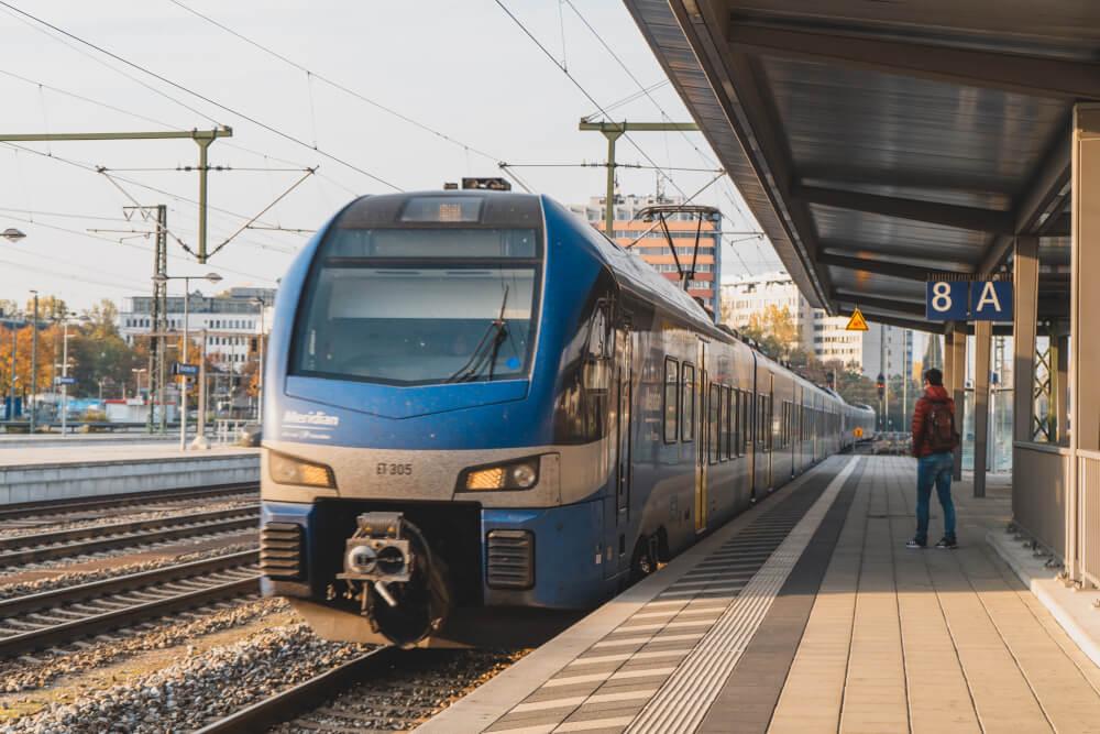 Meridian train in Munich
