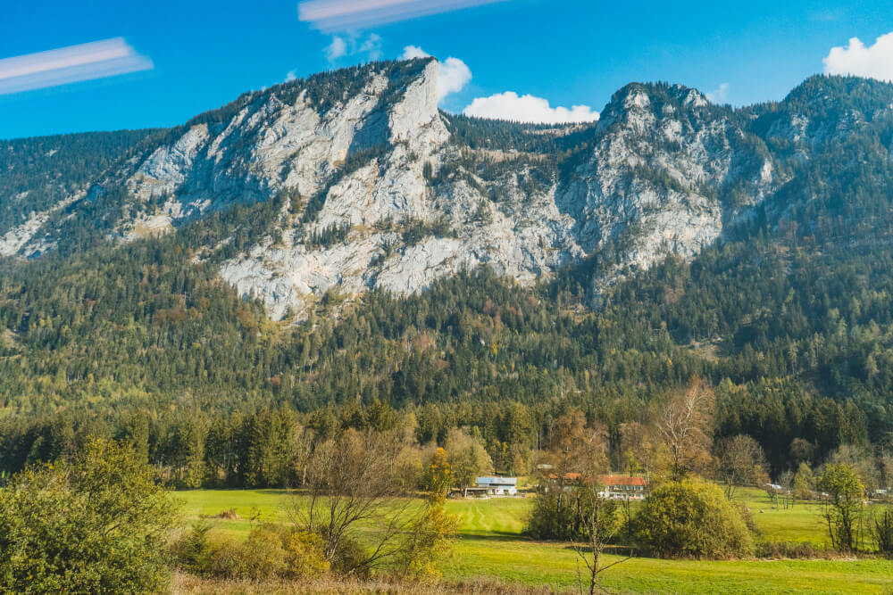 Train views from Munich to Berchtesgaden for a visit to the Eagle's Nest