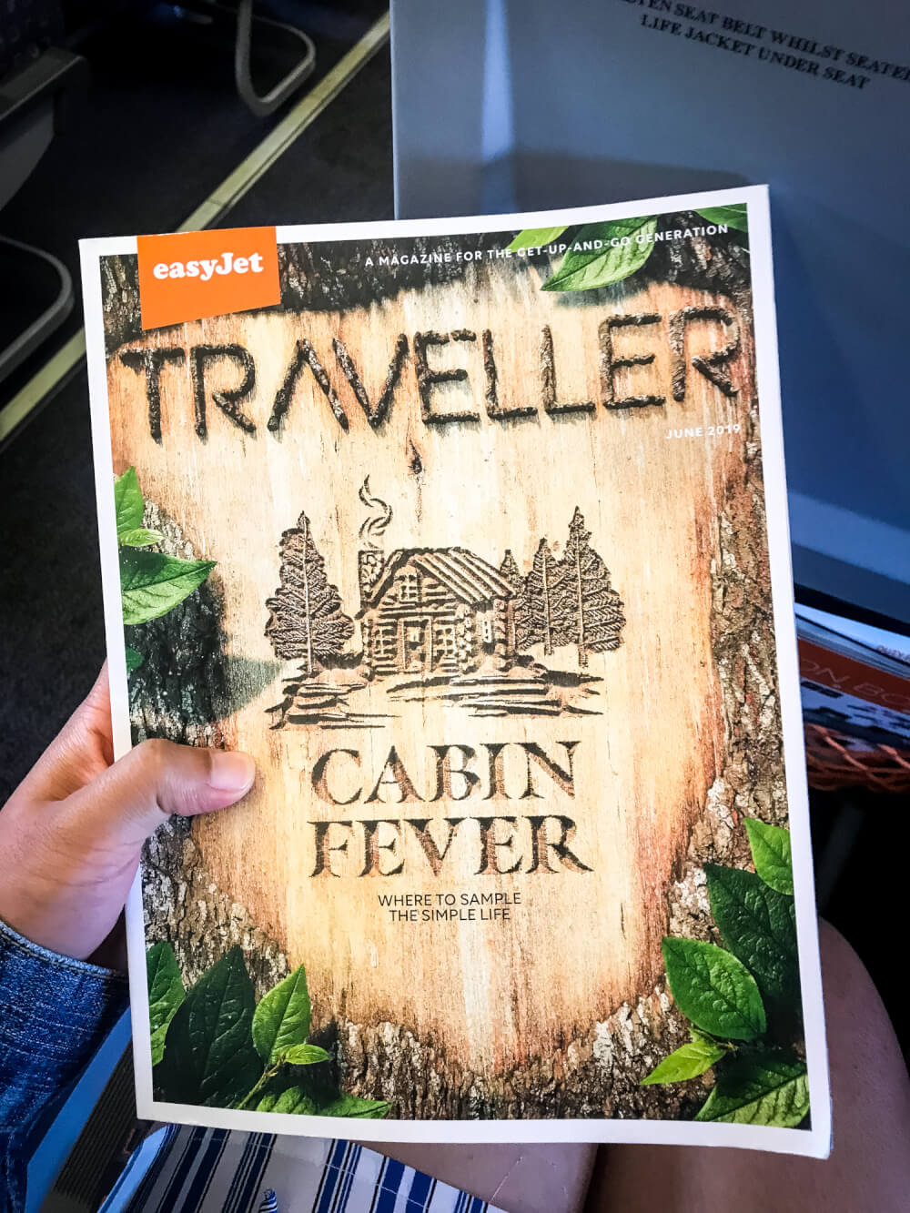 Close-up of an easyJet Traveller magazine