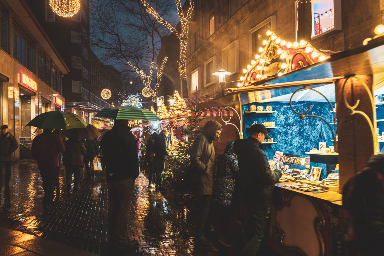Essen Christmas Market in the rain
