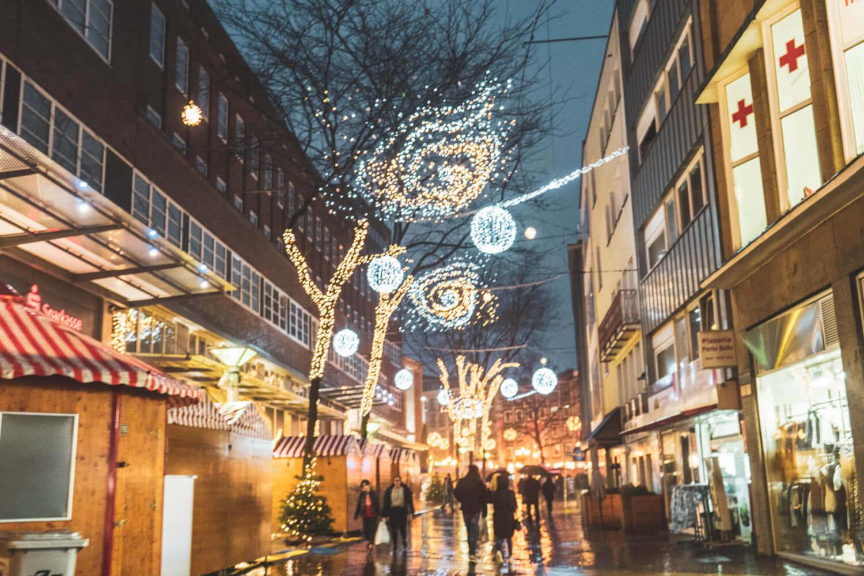 Lighting displays at Essen Christmas Market