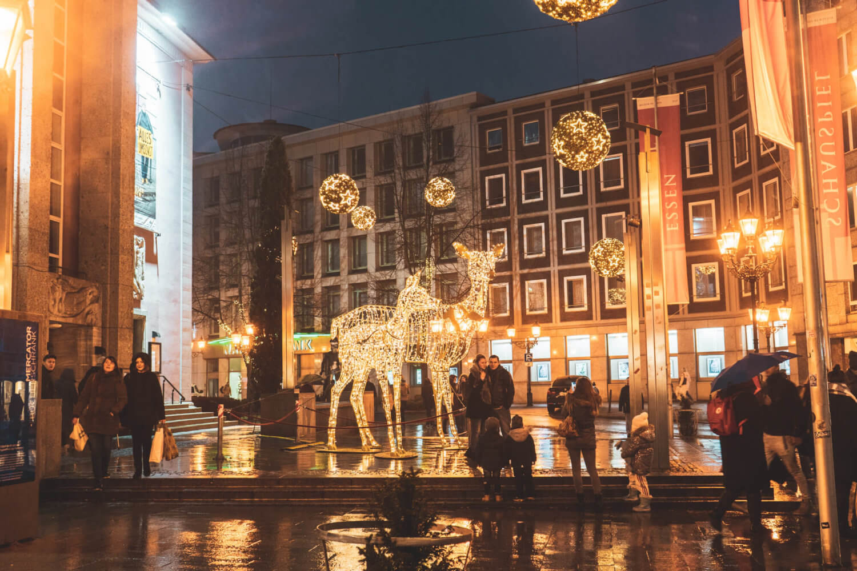 Essen Christmas Market lighting display