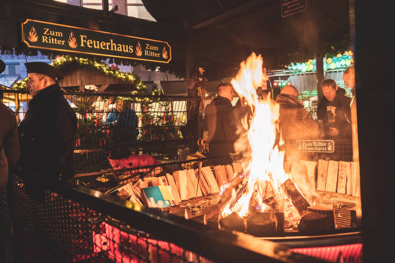 Fireplace at Essen Christmas Market
