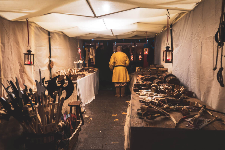 Medieval vendor at Essen Christmas Market