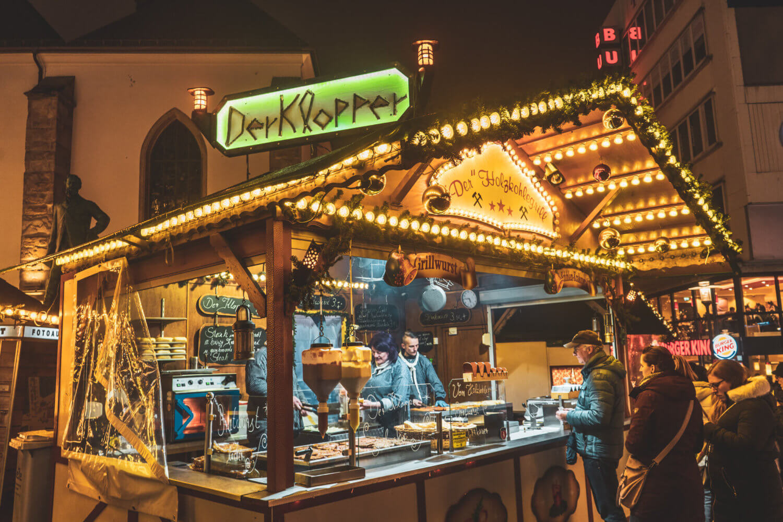 Der Klopper Stand at Essen Christmas Market