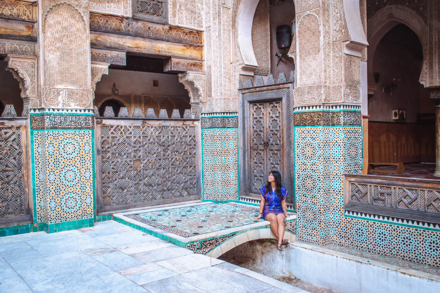 Christina Guan in Fes, Morocco