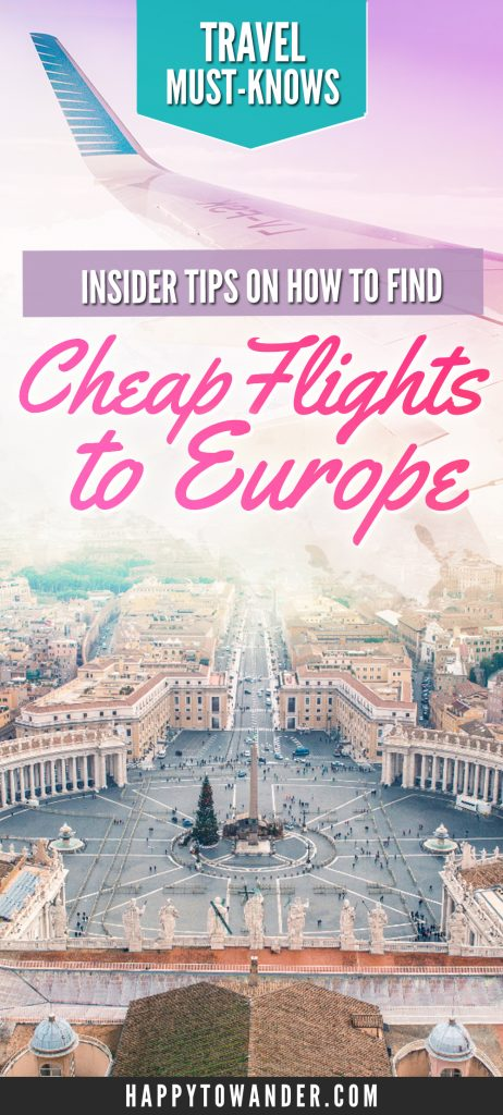How to find the best cheap flight deals to Europe! This post dishes out on expert tips to finding cheap airfare for your next dream vacation to Europe.