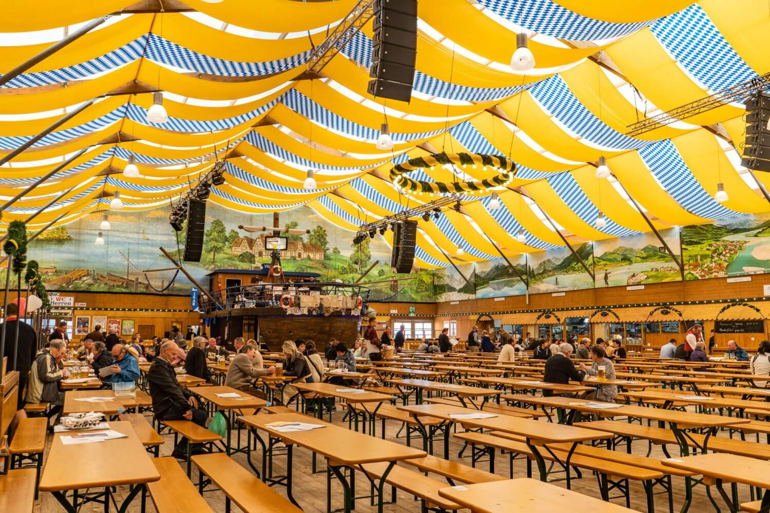 Fischer Vroni tent at Oktoberfest in Munich, Germany