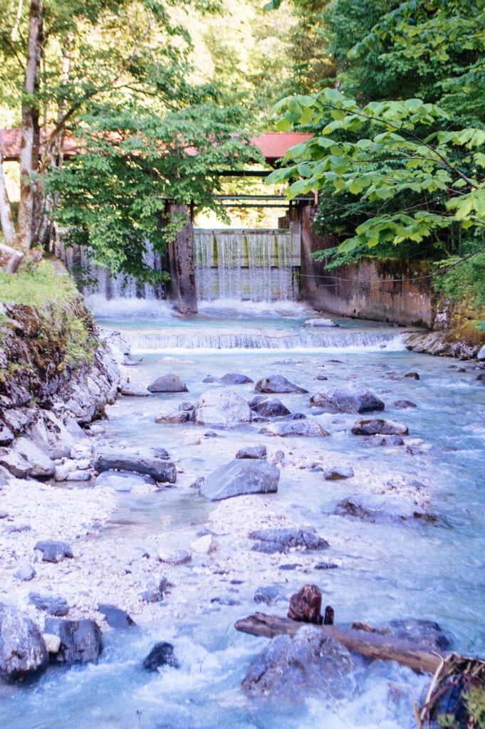 Waterfall near Partnachklamm