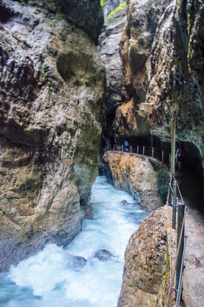 Walkway at the Partnach Gorge in Garmisch-Partenkirchen, Germany