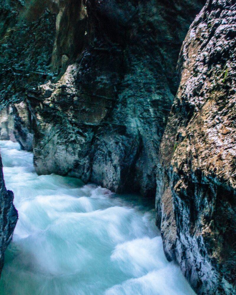THE ultimate guide to visiting Partnach Gorge AKA Partnachklamm in Garmisch-Partenkirchen, Bavaria, Germany, which is near Munich. #Germany #Bavaria #PartnachGorge #Partnachklamm