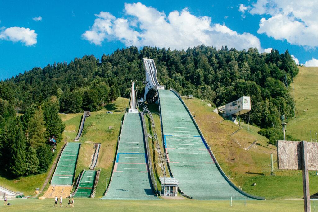 Ski jump in Garmisch-Partenkirchen