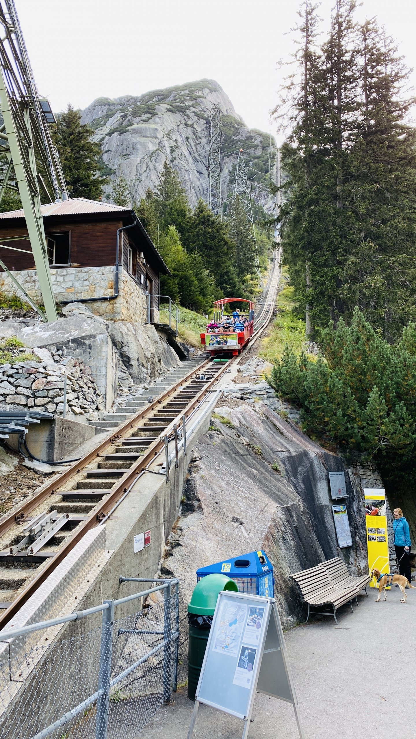 Gelmerbahn Funicular in Switzerland
