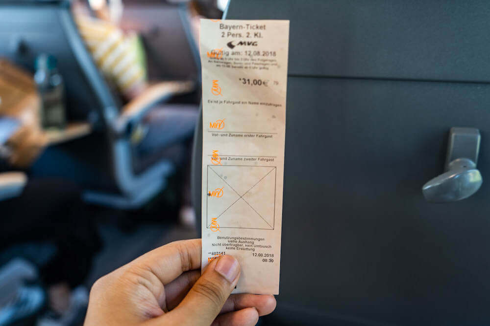 A 2-person Bayern ticket in Bavaria, Germany