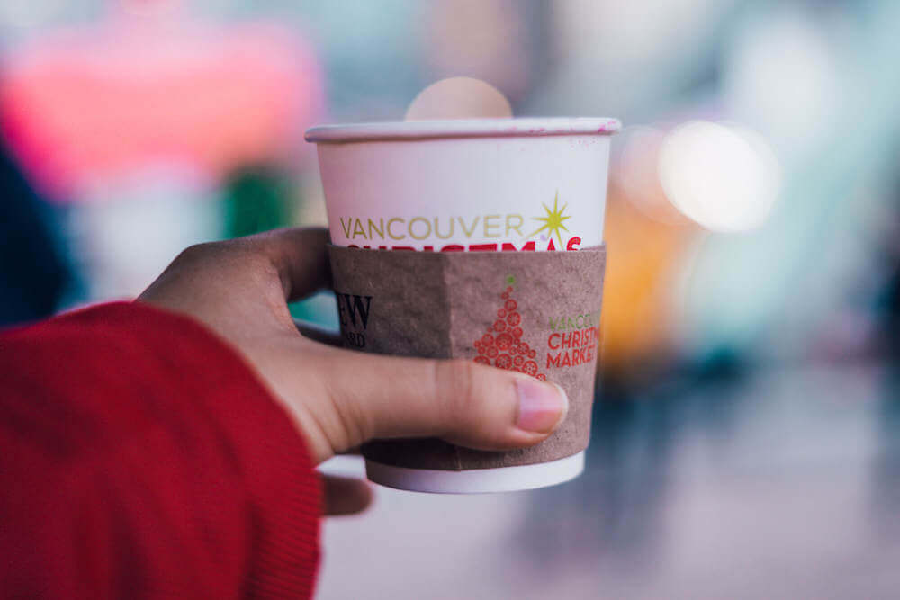 Mulled wine at Vancouver Christmas Market in Vancouver, Canada
