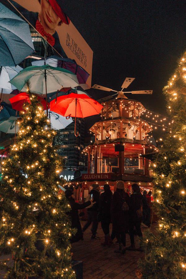 Christmas pyramid at the Vancouver Christmas Market in Vancouver, Canada