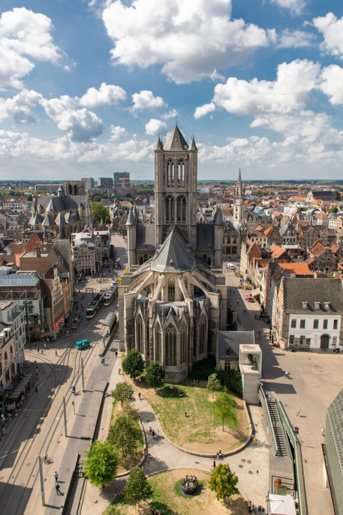 View of Ghent's skyline from the Ghent Belfry