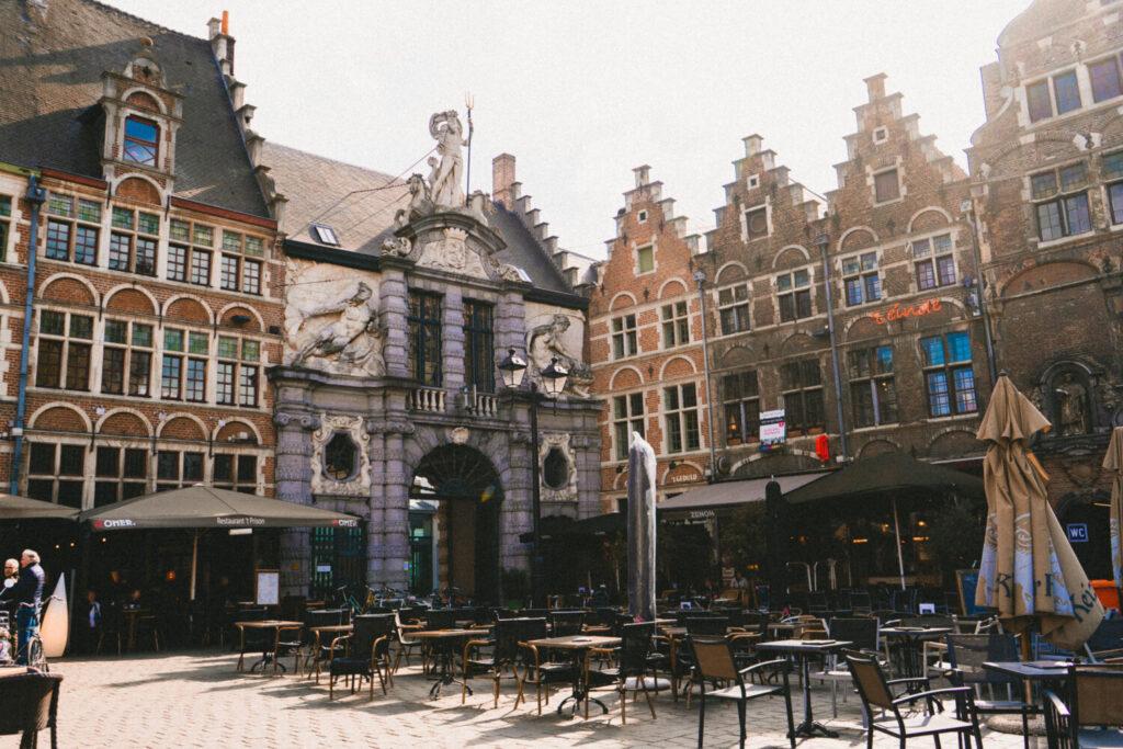 Sint-Veerleplein in Ghent, Belgium
