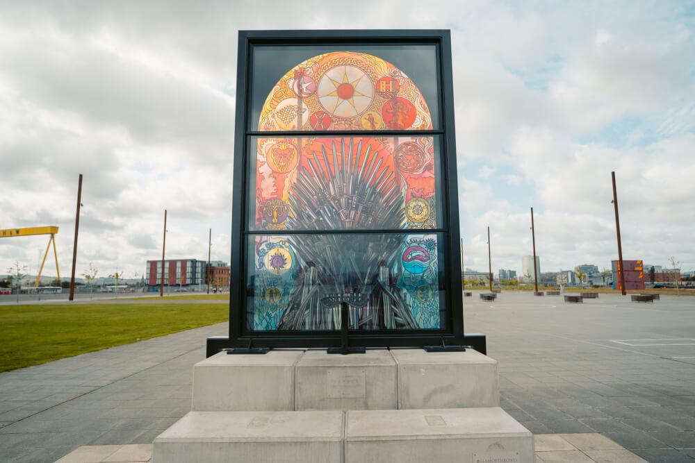 Glass of Thrones, a Game of Thones window in Belfast, Northern Ireland.