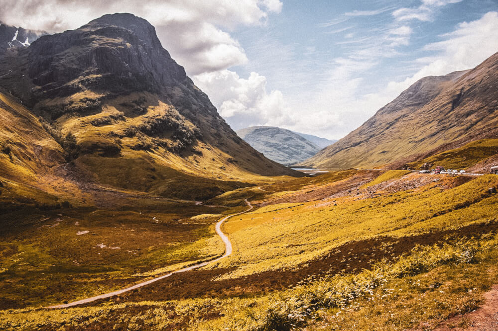 Scottish highlands, the landscapes used in Harry Potter