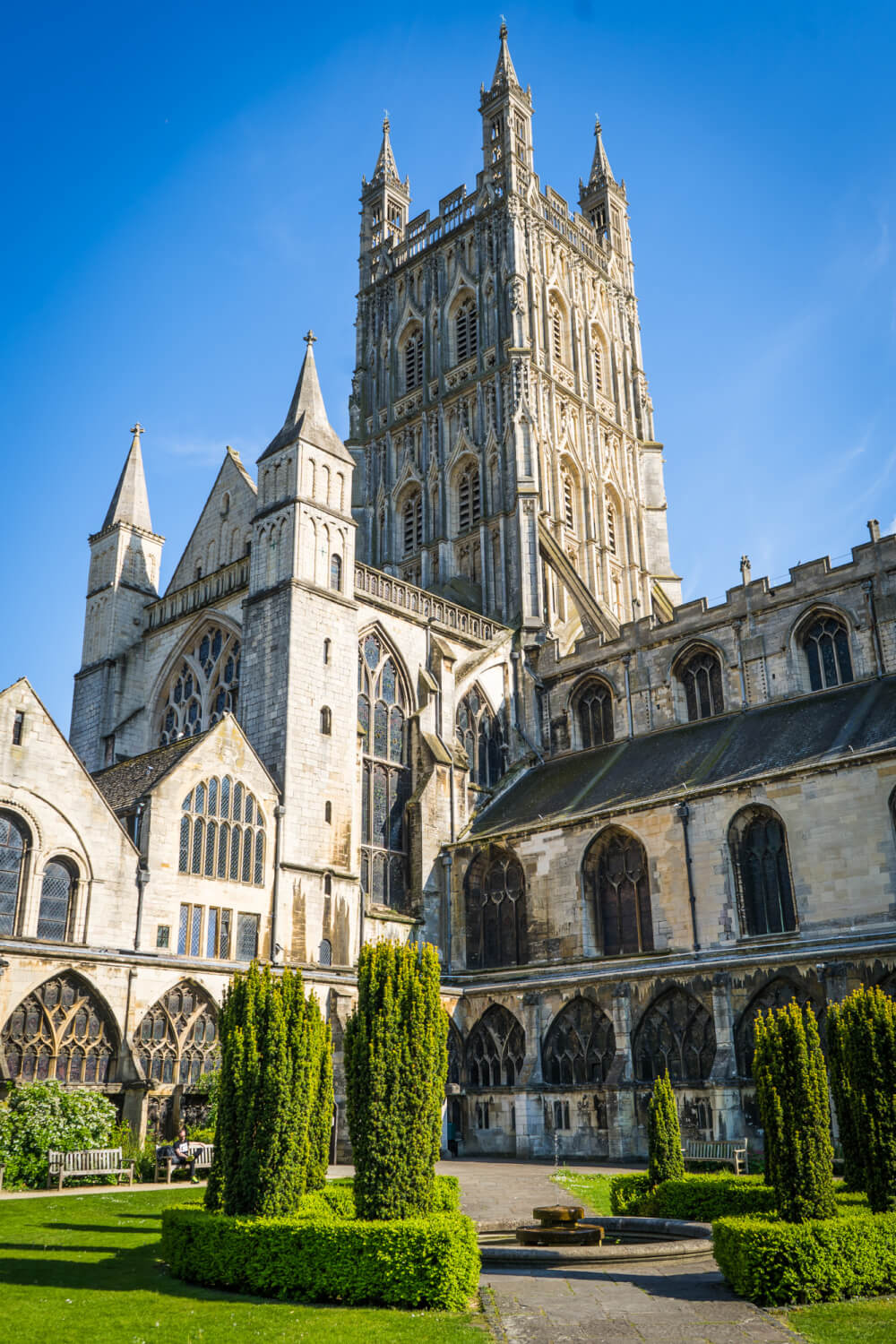 Gloucester Cathedral in Gloucester, Gloucestershire, England