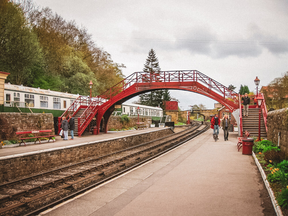 Harry Potter train station in Goathland
