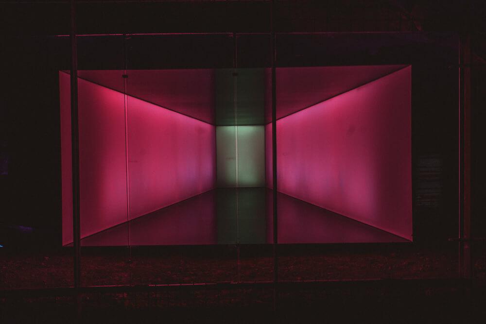 Light installation in Graz, Austria