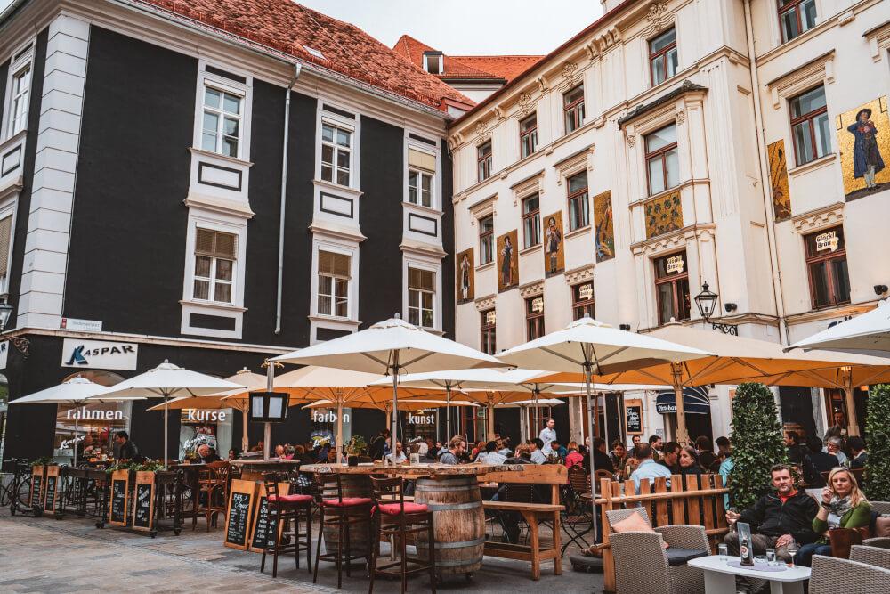 Glockenspielplatz in Graz, Austria