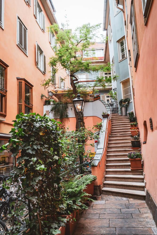 Beautiful hidden courtyard in Graz, Austria