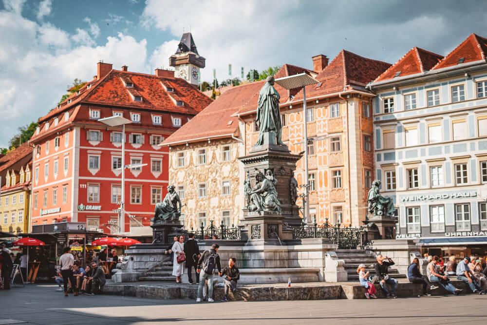 Hauptplatz in Graz, Austria