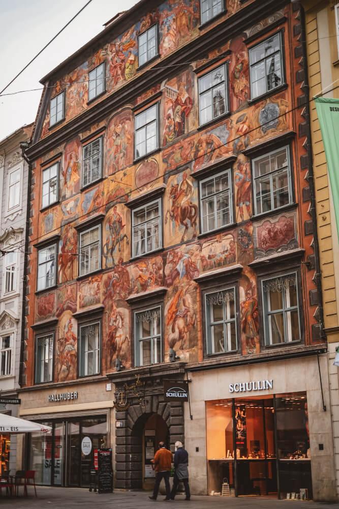 The Gemaltes Haus in Graz, Austria