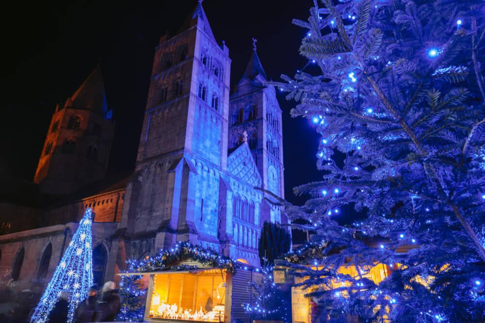 Blue Christmas event in Guebwiller france