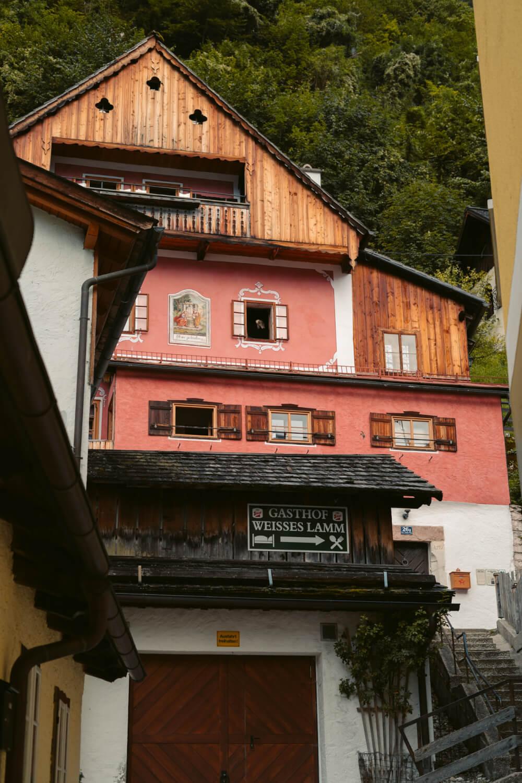 Beautiful wooden house in Hallstatt, Austria.