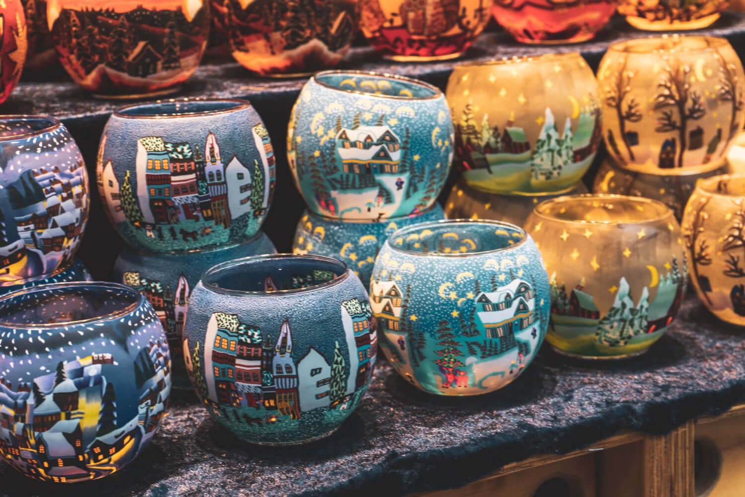 Pretty candle holders at a German Christmas Market