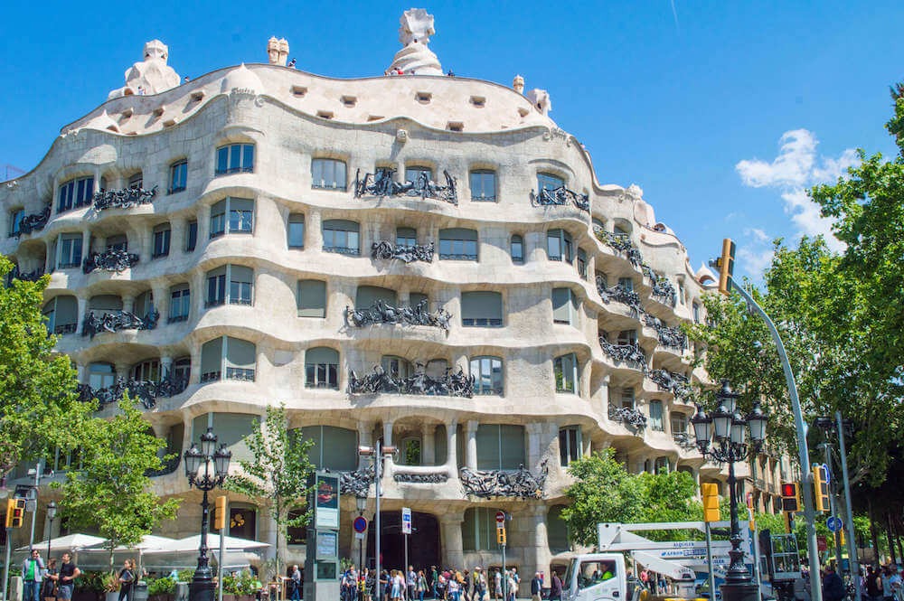 Le Pedrera in Barcelona, Spain